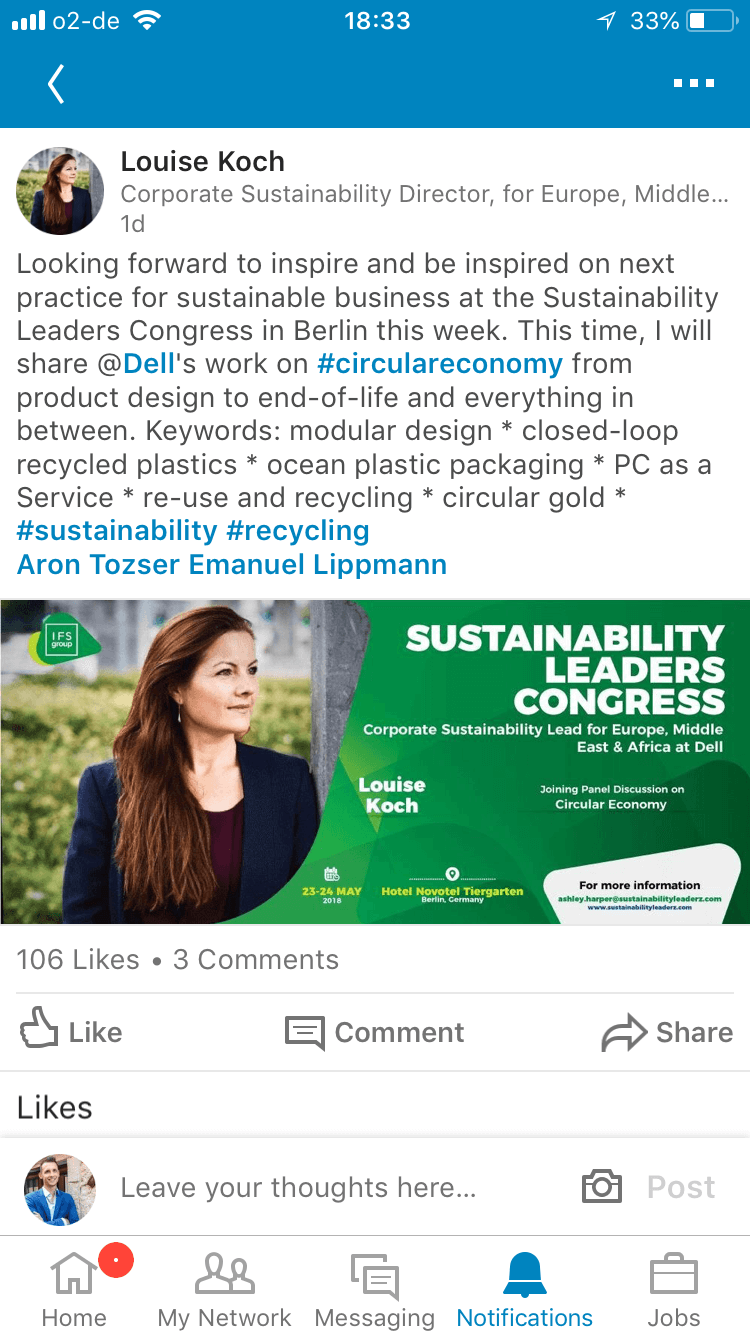Sustainability Leaders Congress - Berlin - sustainability conference in Europe 1